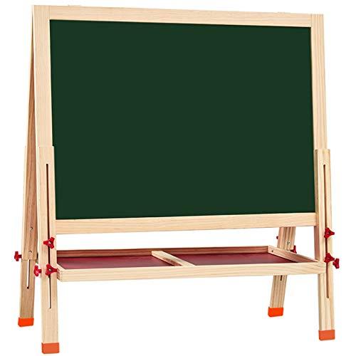 OSHA HJWMM Pizarra Magnética Infantil, Caballete Pintura Niños, Doble Magnético de Doble Cara Pizarra para Dibujo en Niños Pequeños (Color : Wood, Size : 126x86cm)