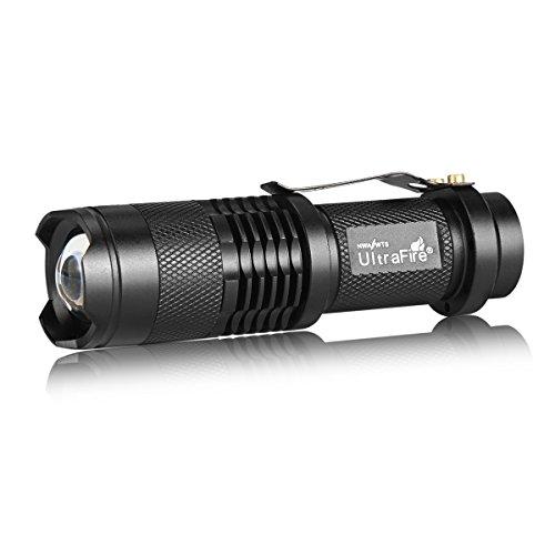 UltraFire Flashlight Single Mode 7w 300lm Mini Led Flashlight SK68 1-Mode Adjustable Focus Zoom Light Lamp
