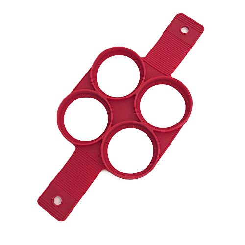 TFENG Pfannkuchen Form, Nonstick SiLikon Kuchenform, Ei Ring DIY Pancake Form (Rund)