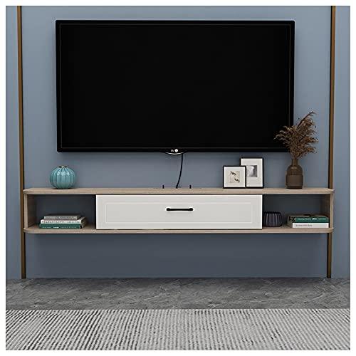 WFENG Mueble TV Suspendido/Mesa TV/Mueble para Salón,con Puerta Abatible con Estantes de...
