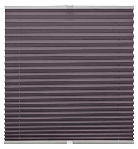 Store plissé sur mesure avec système de fixation Klemmfix pour toutes les fenêtres à l'aide de supports de serrage jusqu'à 27 mm, lilas, Breite: 41-50 cm, Höhe: 151-200 cm