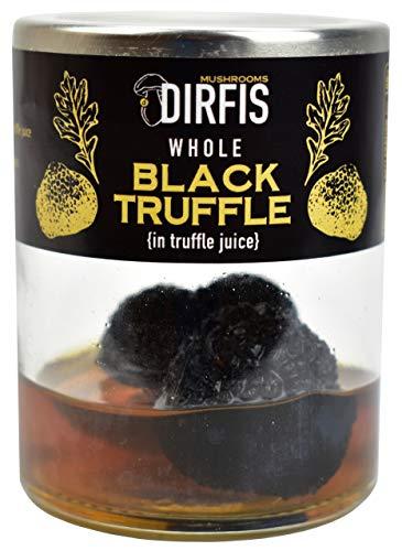 Ganze Schwarze Trüffel von Dirfis   In Trüffelsaft konserviert   Höchste Qualität   50g