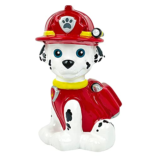 Nickelodeon Paw Patrol Marshall Piggy Bank for Boys and Girls, Large Dalmatian Dog Coin Bank for Kids