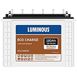 Luminous Eco Charge EC15000 120Ah Tall Tubular Battery