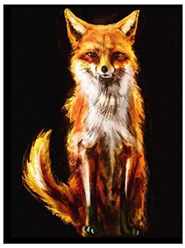 Juego de pintura de diamante para principiantes 5D DIY trabajo artesanal Animal fox beautiful foxhome wall and entrance decoration