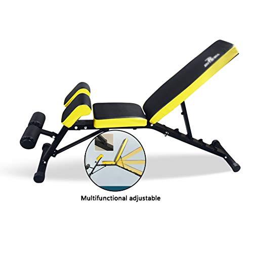 Bench Press Hocker Gewerbe Multifunktionale Profi Hantel Hocker Sit Up Brett Home Fitness Stuhl for Männer Übung Brustmuskeln Und Bauchmuskulatur Ausrüstung (Color : Black, Size : 155 * 40 * 85cm)