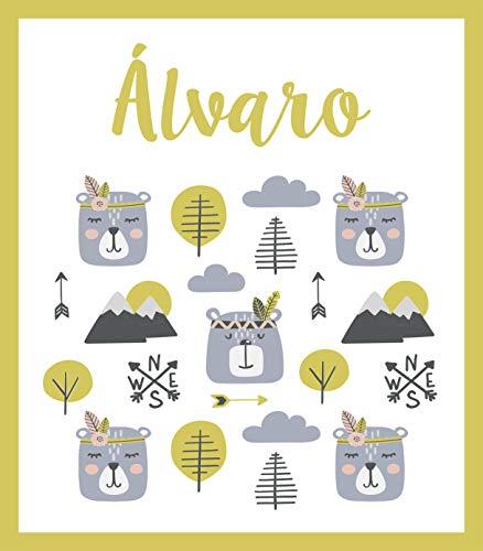 Deco&Fun - Alfombra Infantil Personalizable Bear 70x80cm - Alfombra Infantil Lavable- Alfombra PVC - Alfombras niño y niña - Alfombras habitación Infantil