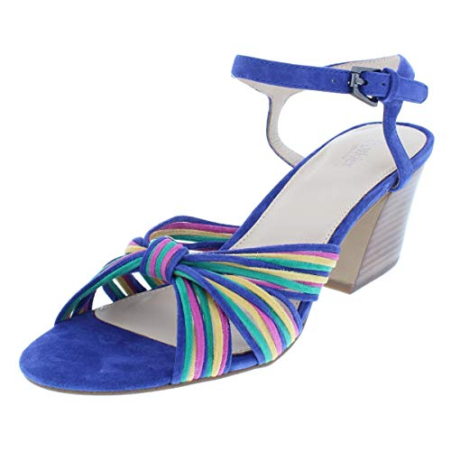 botkier Womens Patsy Suede Padded Insole Dress Sandals Blue 8.5 Medium (B,M)