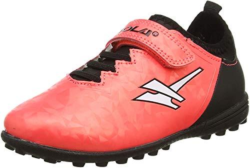 Gola Alpha Vx Jungen Fußballschuhe mit Klettverschluss, Pink - Plasma Pink Schwarz - Größe: 25 EU