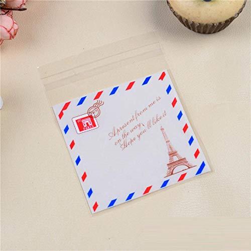 10 stuks 10 x 10 cm koekzakjes snoepjes met sticker OPP geschenktasje van kunststof voor bruiloft thuis levensmiddelverpakking cartoonkinderverjaardag enveloppen