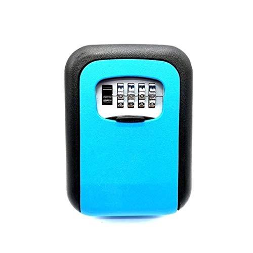 Goodvk Caja Fuerte para Llaves Montable en Pared Diseñado Combinación 4 dígitos de Bloqueo de Teclas Caja de Almacenamiento de Bloqueo Fácil de Instalar (Color : Azul, Size : One Size)