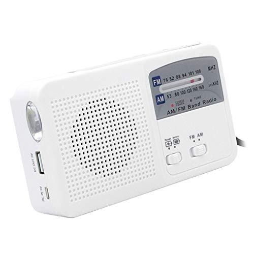 IPOTCH Radio Solar con Manivela, Radio de Emergencia, para Senderismo/Camping/Emergencia, Etc, Música Bluetooth TF, Lámpara de Emergencia/Alarma de Em