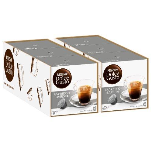 Nescafé Dolce Gusto Espresso Barista, 6 Confezioni, 6 x 16 Capsule