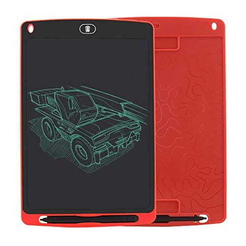 SRMTS Tableta de Escritura, 10 Pulgadas Tablet de Pintar Niños,Electrónica Gráfica Portatil Tableta de Dibujo Digital Color, Escribir Dibujar Notas para Clase Oficina Casa,Rojo