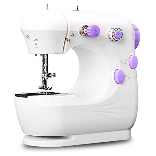 bxtbest-seller Máquina de coser eléctrica multifunción portátil, máquina de coser con pedal ajustable de 2 velocidades