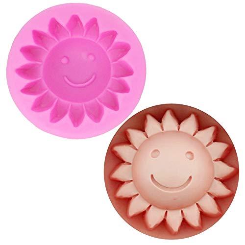 CSCZL Herramientas de Silicona de Girasol Molde de jabón de Flores Flores de Gel de sílice de Silicona Mueren moldes de Piedra aromática 3D moldes de Velas 3D