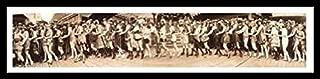 Buyartforless FRAMED Bathing Girl Parade 1920 by Eric Wealler 40x9 Photograph Art Print Poster Nostalgia Vintage Bathing Suits