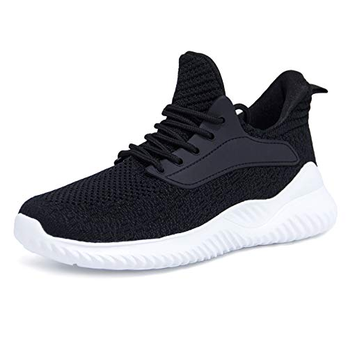 Akk Running Shoes for Men Sneakers - Lightweight Comfy Casual Memory Foam Workout Shoes for Walking Tennis Indoor Outdoor Black Size 10