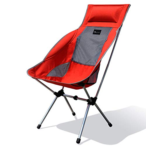 MOON LENCE Compact Ultralight Portable Folding Camping Backpacking Chairs Carry Bag (Lounge Chair)