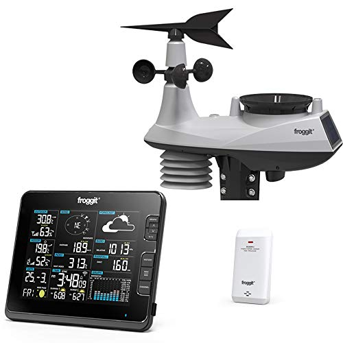 Froggit WH6000 - Estación meteorológica inalámbrica profesional (Wi-Fi)
