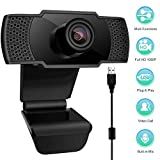 StillCool Webcam with Microphone, 1080P HD Computer USB Streaming Web Camera for PC