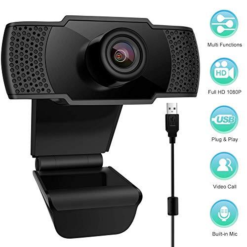 StillCool Webcam mit Mikrofon, 1080P HD Computer USB Streaming Webkamera für PC Mac Laptop Desktop, Live, Breitbild-Video-Anrufe, Aufnahme, Konferenzen, Gaming 1