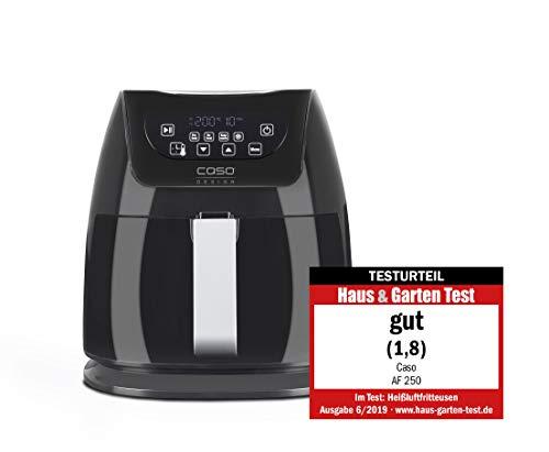 CASO | AF250 Heißluftfritteuse 3 L | Frittier-Korb für 1 kg, 60-200°C, Leistungsstark 1400 W, gesünder frittieren, Edelstahl-Innenraum, schwarz