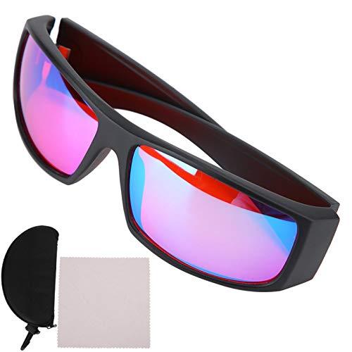 Asixxsix Gafas para daltónicos para Hombres y Mujeres, Gafas correctivas para daltónicos, Rojo, Verde, para ceguera, Debilidad, para Mejorar la Vista
