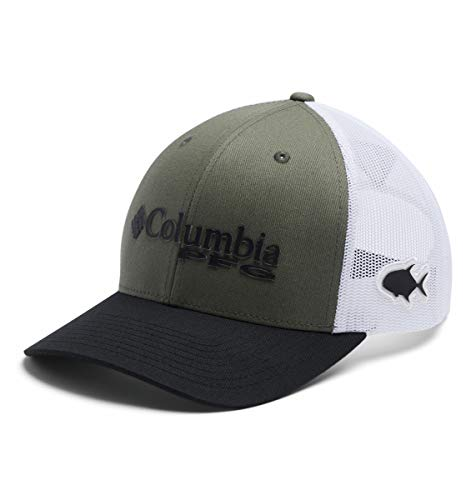 Columbia Unisex PFG Mesh Snap Back Ball Cap, Cypress/White/Black/Permit, One Size
