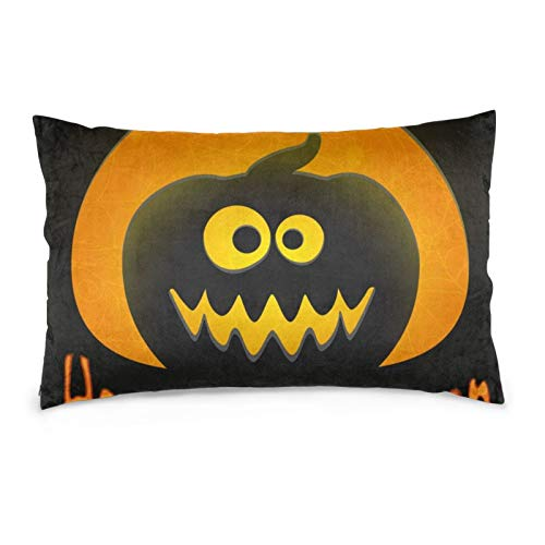 iksrgfvb Pillowcases 16X24inch Funny Halloween Greeting Card With Smiling Jack O'Lantern In Paper Style Throw Pillow Covers Sofa Car Cushion Cover Home Decorative 40X60CM