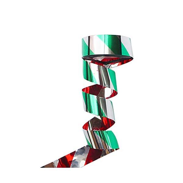 BEAYPINE Cinta Repelente 90 m con Espiral Reflectante para Colgar y Mantener alejado a los pigmentos y los cuellos