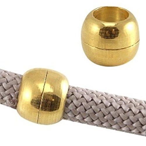 Sadingo Cierre magnético DQ para cintas de 10 mm, 1 unidad. Zamak, plateado o dorado, calidad de diseño europea, color a elegir.