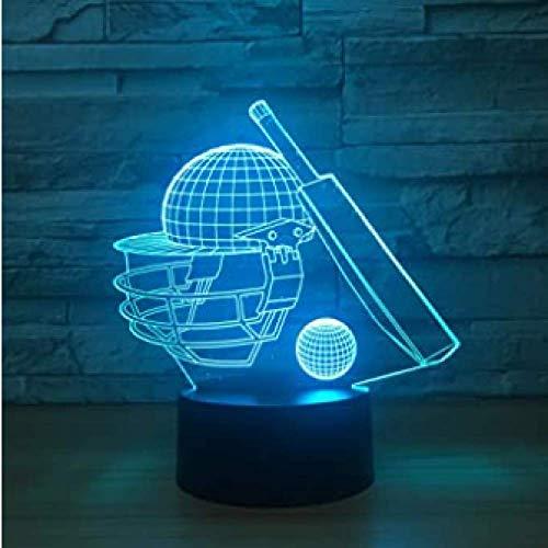LED Nachtlampje 3D Illusie Tafellamp 16 Kleur Veranderende Optische Acryl Platte Abs Basis USB Lading voor Woondecoratie Perfect Cadeau, Afstandsbediening en Aanraking