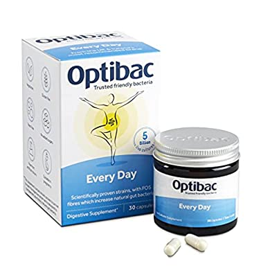 Optibac Every Day | Pro and Pre Biotic Supplement | Digestive System | Scientifically Proven | 5 Billion | 30 Capsules
