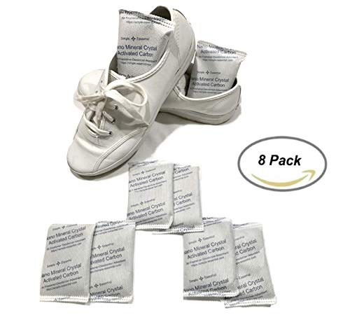 SimpleAndEssential Reusable Moisture and Odor Absorber Eliminator Bags for Refrigerator, Drawers and Shoes (8x50g Bags)