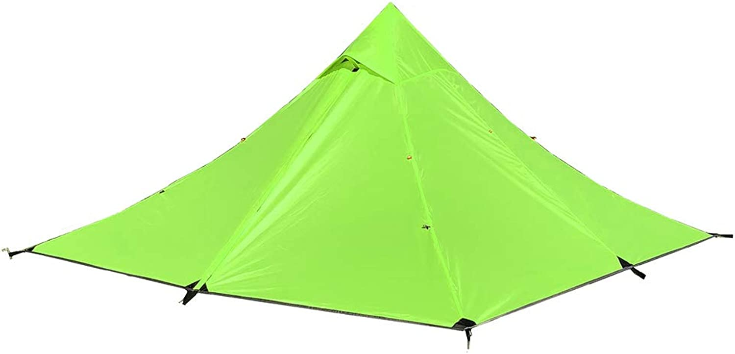 Lixiada Double Layer Water Resistant Backpacking Tent Outdoor Camping Tent for Fishing Hunting Beach Travel
