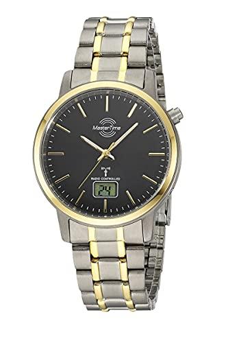 Master Time Reloj analógico digital para hombre con mecanismo de cuarzo y correa de titanio MTGT-10753-11M