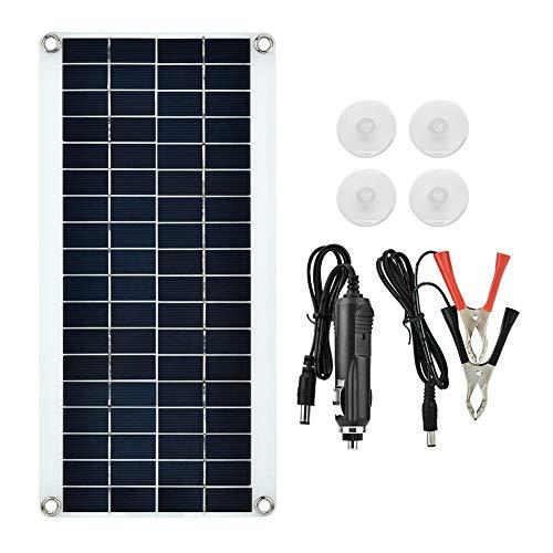 Qinlorgo Caricabatterie da Pannello Solare per Batteria per Auto Modulo di Alta efficienza Caricabatterie da Pannello Solare policristallino/Nuovo Flessibile Impermeabile, Laptop, 20W Esterno