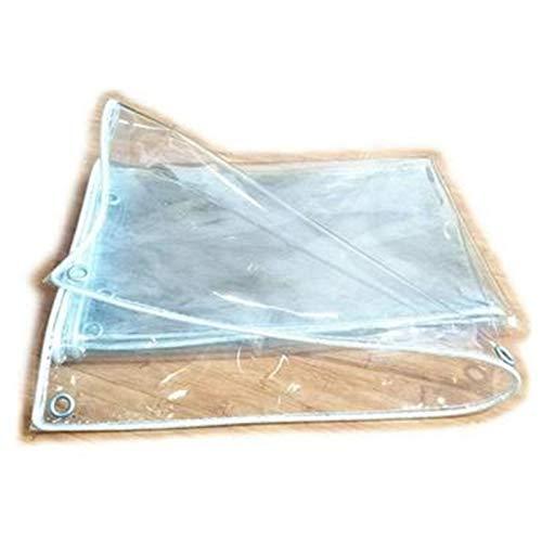 Lona Transparente Impermeable, Tarea Pesada PVC Anti-envejecimiento Lona Transparente, Invernadero Cámping Jardinería Hoja De Lona, Personalizable (Color : Clear, Size : 5x6m)