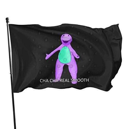 N/F Barney Cha Cha Real Smooth Meme Flagge Banner Flaggen