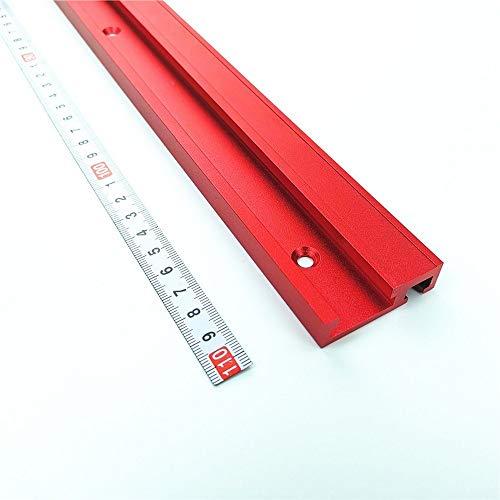 NO LOGO FMN-HOME, 1 Stück 400/600/800 mm Schüttenschieber T-Schiene 45 mm Universal Aluminium Schieber Elektrische Kreissäge Klapptisch Holzbearbeitung DIY Zubehör (Farbe: 1 Stück, Größe: 600 mm)
