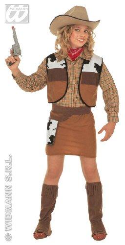 Widmann wdm36767 - kostuum voor kinderen Western Cowgirl (140 cm / 8-10 jaar), bruin, XS