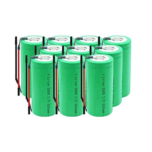 Midenbo 32650 BateríAs Recargables 3.7v 8200mah Batería De Iones De Litio De Litio, Batería para Linterna LED 10Pieces