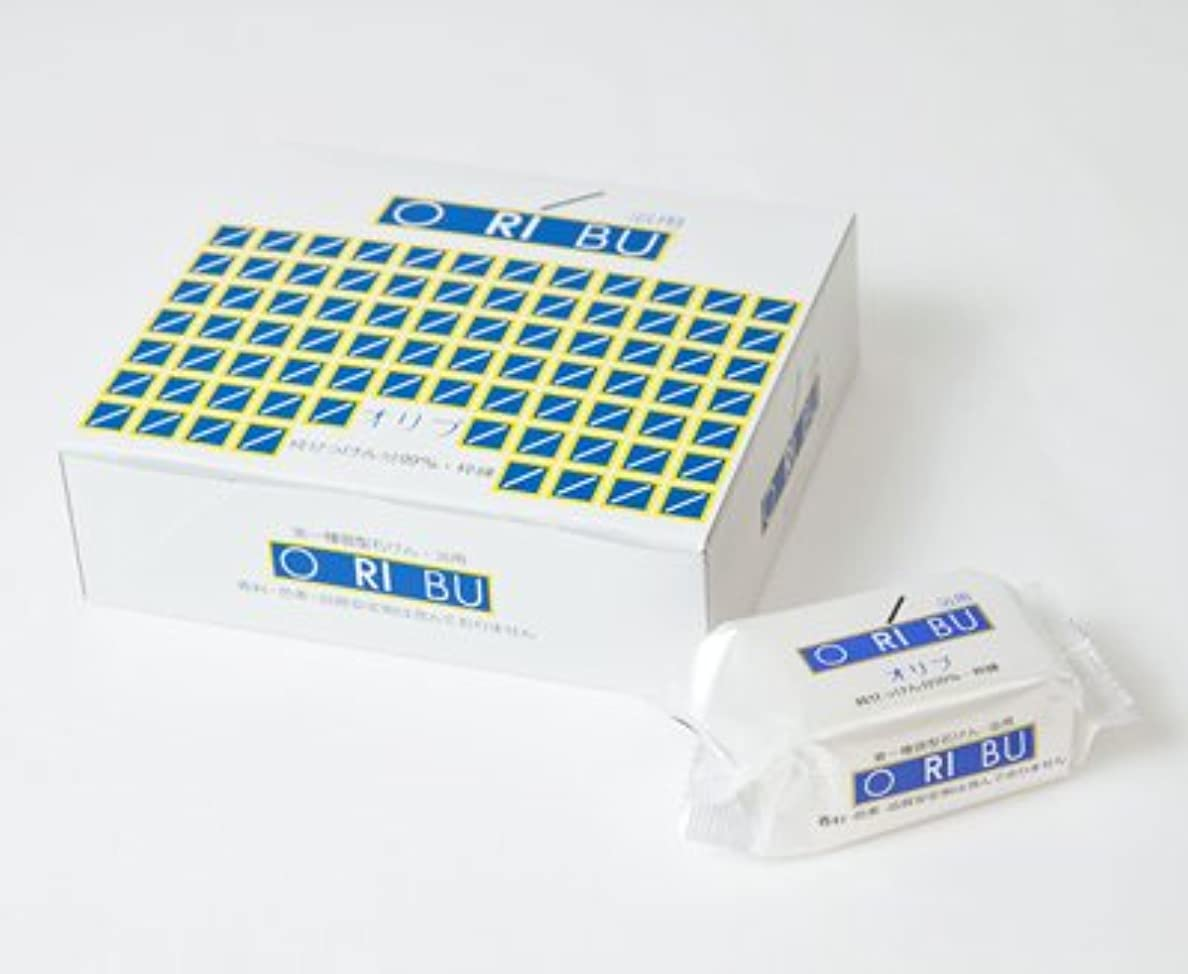 怖がらせる維持購入暁石鹸 ORIBU オリブ浴用石けん 1箱 (110g×10個入) 泡立てネット付き