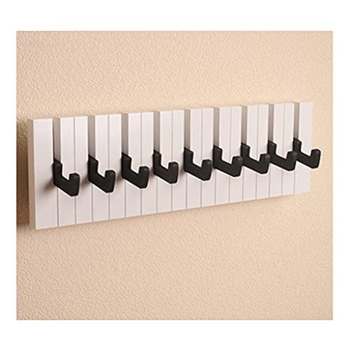 Estante plegable montado en la pared, pared moderna capa flotante de gancho de gancho de espacio para ahorro de espacio para abrigos sombreros bufandas clave (blanco 7 9 16 ganchos) ( Size : 9hooks )