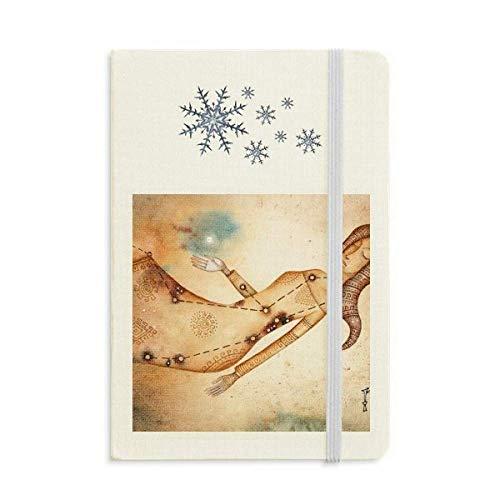 Settembre Agosto Vergine Costellazione Zodiaco Notebook Spesso Diario Fiocchi di Neve Inverno