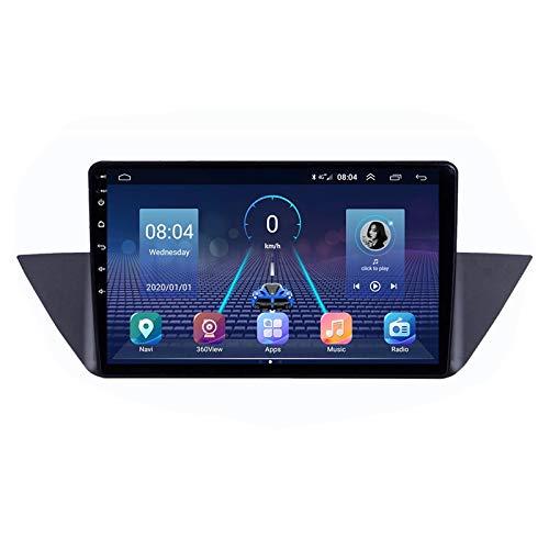2 DIN Radio De Coche 10' Pantalla Táctil, Autoradio con Bluetooth Manos Libres/Mirroring De La Pantalla/FM Tuner/SD Apoyo DSP Navegación GPS, para BMW X1 E84 2009-2012,Quad Core,WiFi 1+16