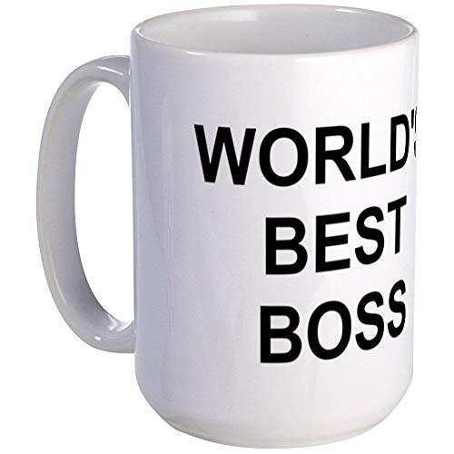 Original World's Best Boss - Taza (tamaño grande), color blanco