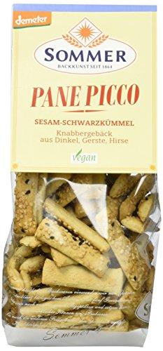 Sommer Dinkel Pane Picco mit Sesam-Schwarzkümmel vegan, demeter, 6er Pack (6 x 150 g)