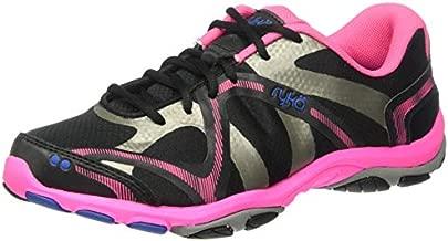 Ryka Women's Influence Cross Trainer, Black/Atomic Pink/Royal Blue/Forge Grey, 8 M US